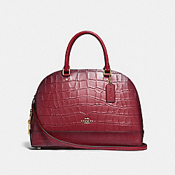 COACH F32120 - SIERRA SATCHEL CHERRY /LIGHT GOLD
