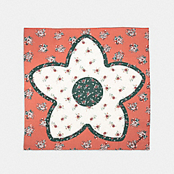 DREAM CATCHER FLORAL PATCHWORK OVERSEIZED SQUARE - F32149 - MELON