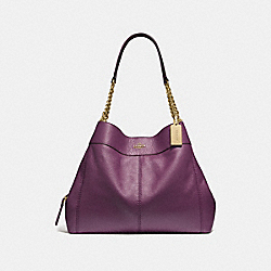 LEXY CHAIN SHOULDER BAG - F32150 - METALLIC RASPBERRY/LIGHT GOLD