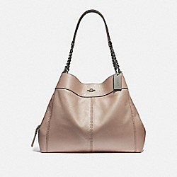 LEXY CHAIN SHOULDER BAG - F32150 - PLATINUM/SILVER