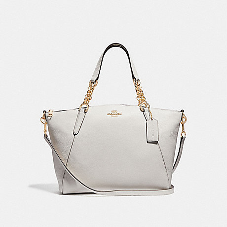 COACH F32157 SMALL KELSEY CHAIN SATCHEL CHALK/LIGHT-GOLD