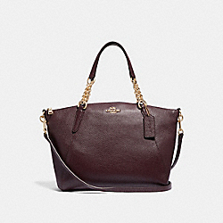SMALL KELSEY CHAIN SATCHEL - F32157 - OXBLOOD 1/LIGHT GOLD