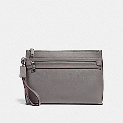 COACH F32175 Academy Pouch HEATHER GREY