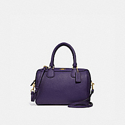 MINI BENNETT SATCHEL - F32202 - DARK PURPLE/IMITATION GOLD