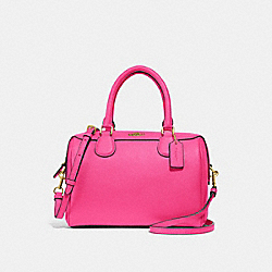 MINI BENNETT SATCHEL - F32202 - PINK RUBY/GOLD