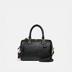 MINI BENNETT SATCHEL - COACH f32202 - BLACK/light gold