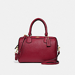 COACH F32202 - MINI BENNETT SATCHEL CHERRY /LIGHT GOLD