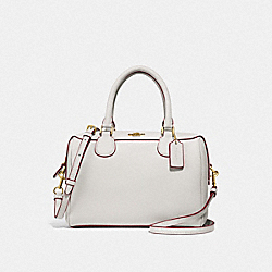 MINI BENNETT SATCHEL - F32202 - CHALK/IMITATION GOLD