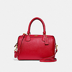 MINI BENNETT SATCHEL - f32202 - TRUE RED/light gold