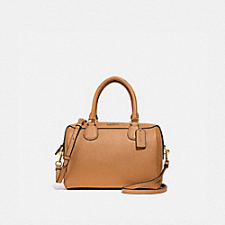 MINI BENNETT SATCHEL - f32202 - LIGHT SADDLE/light gold