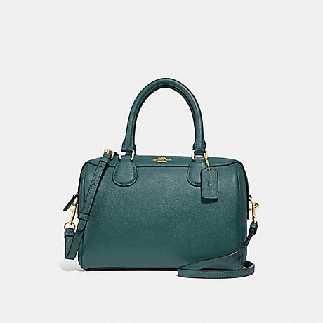 COACH F32202 MINI BENNETT SATCHEL DARK-TURQUOISE/LIGHT-GOLD