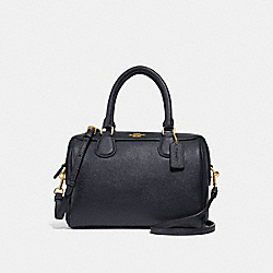 COACH F32202 Mini Bennett Satchel MIDNIGHT/GOLD