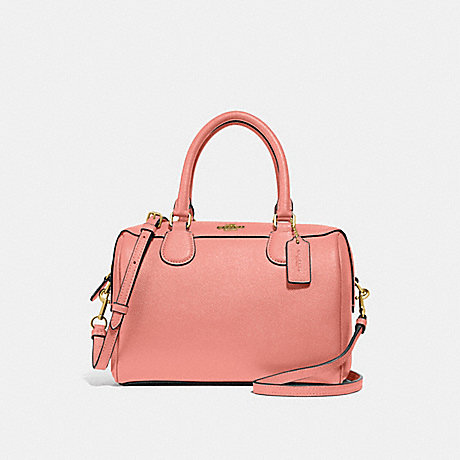COACH F32202 MINI BENNETT SATCHEL LIGHT CORAL/GOLD