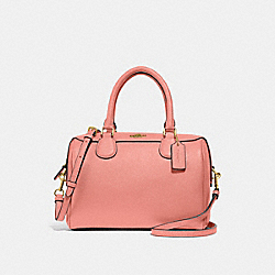 MINI BENNETT SATCHEL - F32202 - LIGHT CORAL/GOLD