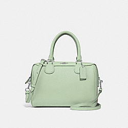 COACH F32202 Mini Bennett Satchel PALE GREEN/SILVER