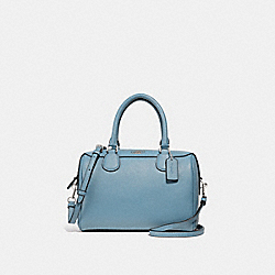MINI BENNETT SATCHEL - F32202 - CORNFLOWER/SILVER