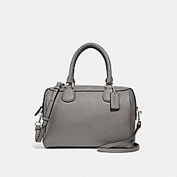 MINI BENNETT SATCHEL - F32202 - HEATHER GREY/SILVER
