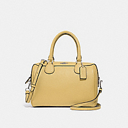 MINI BENNETT SATCHEL - F32202 - LIGHT YELLOW/SILVER