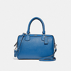 MINI BENNETT SATCHEL - F32202 - SKY BLUE/SILVER