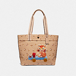 COACH F32207 Fisher-price Kitty Tote BEECHWOOD MULTI/LIGHT GOLD