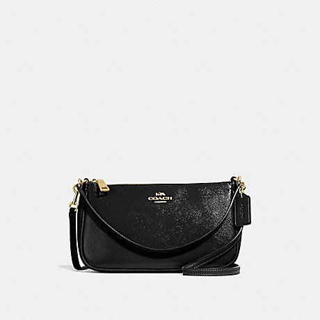 COACH F32211 TOP HANDLE POUCH BLACK/LIGHT-GOLD