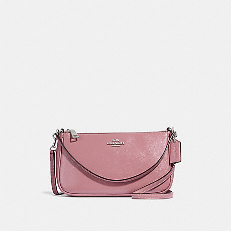 COACH F32211 TOP HANDLE POUCH DUSTY-ROSE/SILVER