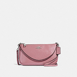 TOP HANDLE POUCH - f32211 - SILVER/DUSTY ROSE