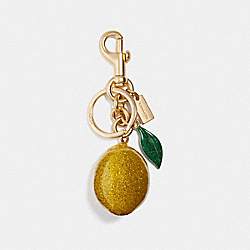 COACH F32213 - LEMON BAG CHARM GOLD/YELLOW