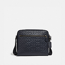 METROPOLITAN CAMERA BAG IN SIGNATURE LEATHER - F32220 - QB/MIDNIGHT NAVY