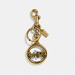 HORSE AND CARRIAGE PENDANT BAG CHARM - f32227 - GOLD