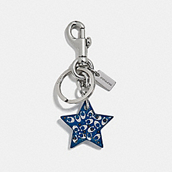 COACH F32228 Signature Star Bag Charm ATLANTIC/SILVER