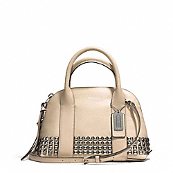 BLEECKER STUDDED LEATHER MINI PRESTON SATCHEL - f32244 - AKECR