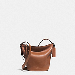 BLEECKER MINI DUFFLE BAG IN GLOVE TANNED LEATHER - f32281 - AKTAN