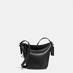 COACH F32281 - BLEECKER MINI DUFFLE BAG IN GLOVETANNED LEATHER AMBER/BLACK