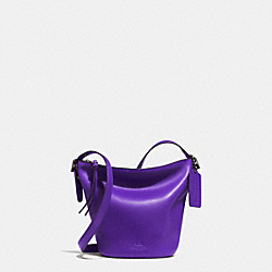 COACH BLEECKER MINI DUFFLE BAG IN GLOVE TANNED LEATHER - QB/PURPLE IRIS - F32281