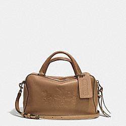BLEECKER LOGO SMALL TOASTER SATCHEL IN LEATHER - f32283 -  AR/BRINDLE