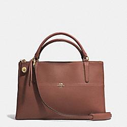 COACH F32285 The Borough Bag In Saffiano Leather  LIGHT GOLD/BRICK