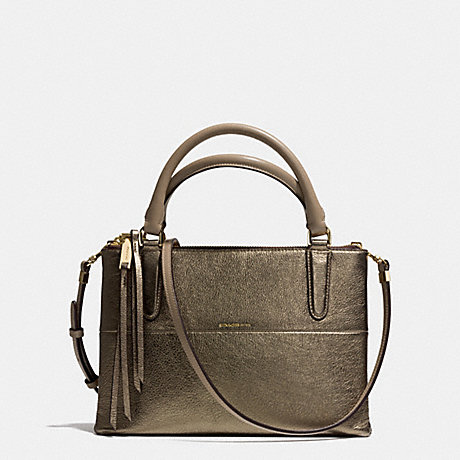 COACH f32322 THE METALLIC LEATHER MINI BOROUGH BAG  GOLD/GOLD