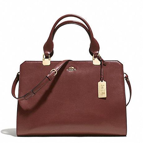 COACH f32331 MADISON LEATHER LEXINGTON CARRYALL LIBRK