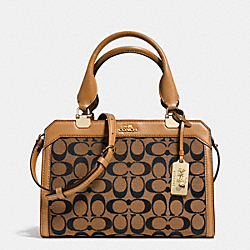 COACH F32355 - MADISON MINI LEXINGTON CARRYALL IN SIGNATURE  LIGHT GOLD/BRINDLE