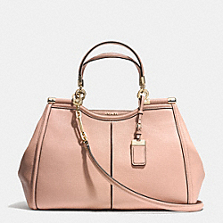 COACH F32378 Madison Textured Leather Pinnacle Caroline Satchel  LIGHT GOLD/ROSE PETAL