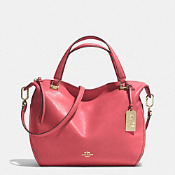 COACH F32405 - MADISON SMYTHE SATCHEL IN LEATHER  LIGHT GOLD/LOGANBERRY