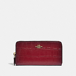 COACH F32433 Accordion Zip Wallet CHERRY /LIGHT GOLD