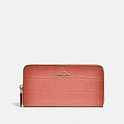 COACH F32433 Accordion Zip Wallet MELON/LIGHT GOLD