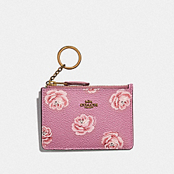 COACH F32449 Mini Skinny Id Case With Rose Print B4/ROSE ROSE PRINT