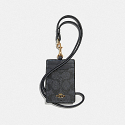 COACH F32475 Id Lanyard In Colorblock Signature Canvas LI/CHARCOAL MIDNIGHT NAVY