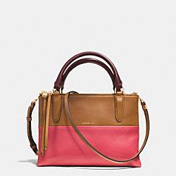 COACH F32503 The Mini Borough Bag In Retro Colorblock Leather  GOLD/LOGANBERRY/TAN