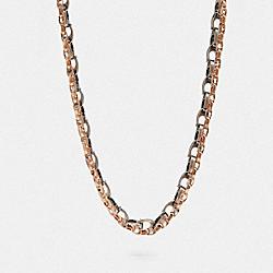 COACH F32555 Signature Chain Layered Necklace SV/MULTI