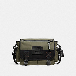COACH F32609 Scout Messenger ARMY GREEN/BLACK COPPER FINISH
