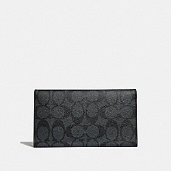 COACH F32625 Large Universal Phone Case In Signature Canvas CHARCOAL/BLACK/BLACK ANTIQUE NICKEL